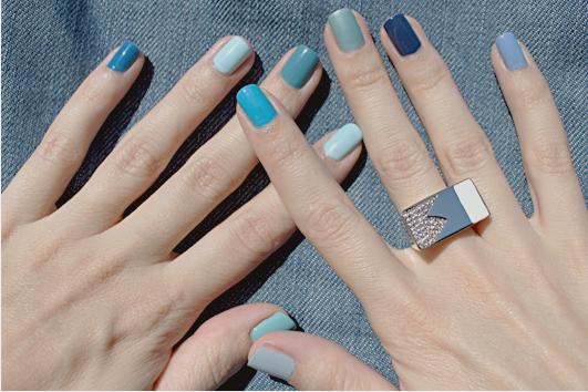 Маникюр с разным цветом ногтей