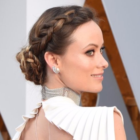 Oscars-2016-Hair-Makeup-Red-Carpet olivia Wilde